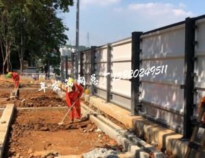 工地施工围挡 钢板支撑护栏网 波形护栏 车厢板围挡 (19)